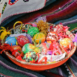 Ukrainian easter eggs on a platter — Stock Photo #37080547