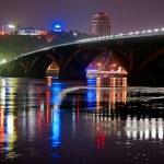 Metro bridge in Kiev, Ukraine — Stock Photo #37081093
