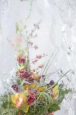 Frozen colorful bouquet — Stock Photo