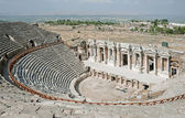 Ruins of theater in ancient Hierapolis, Turkey 2 — Stock Photo