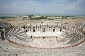 Ruins of theater in ancient Hierapolis, Turkey — Stock Photo