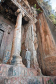 Man at the Tomb of Amyntas in Fethiye — Stock Photo