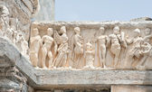 Detailed arch of Hadrian's Temple, Ephesus, Turkey — Stock Photo