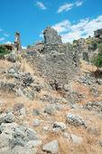 St. Nicholas Island ruins, Fethiye, Turkey — Stock Photo