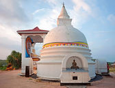 Small white stupa in Sri Lanka at the sunset — Stock Photo