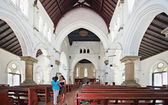 The interior of All Saints Anglican Church in Galle, Sri Lanka — ストック写真