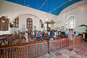 The ceremony in the old Dutch reformed church in Galle, Sri Lanka. — Stock Photo