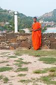 An unidentified Buddhist monk — Stock Photo
