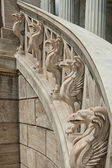 Gryphons of the stairs — Stock Photo