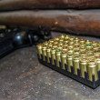 Ammunition and gun — Stockfoto