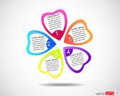 Flower business presentation,  modern design template — Stock Vector