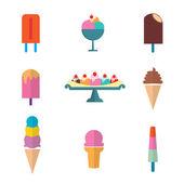 Vector of ice cream set — Stock Vector