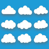 Clouds collection, Vector illustration — Stock Vector