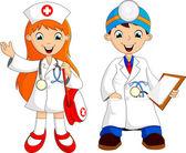 Doctor cartoon — Stock Vector