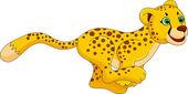 Cheetah run cartoon — Stock Vector