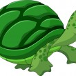 Cute turtle cartoon — Stock Vector