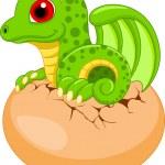 Cute dragon babies cartoon — Stock Vector #36547211