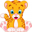 Cute cheetah babies cartoon — Stock Vector