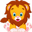 Lion babies cartoon — Stock Vector