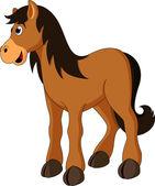 Cute horse cartoon — Stock Vector