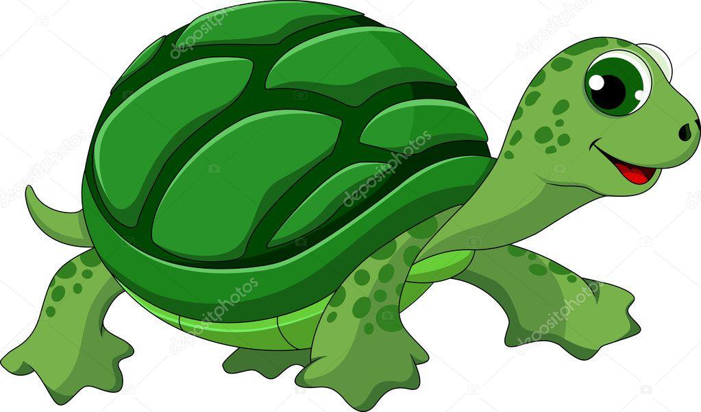 Cartone animato carino tartaruga — vettoriali stock