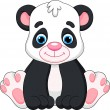 Cute panda baby cartoon — Stock Vector