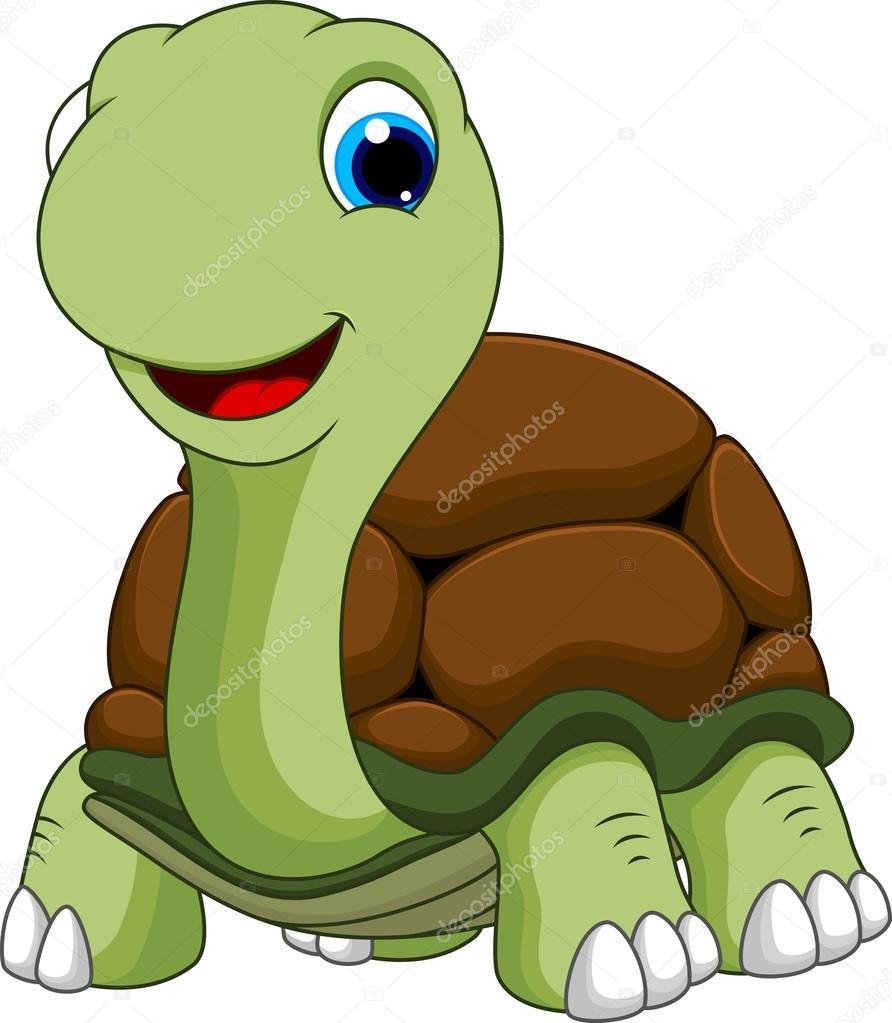 Cartone animato lanterna verde : Cartone animato tartaruga — vettoriali stock irwanjos