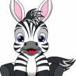 Cute baby zebra cartoon — Stock Vector #38693471