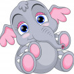Cute baby elephant cartoon — Stock Vector #38693589