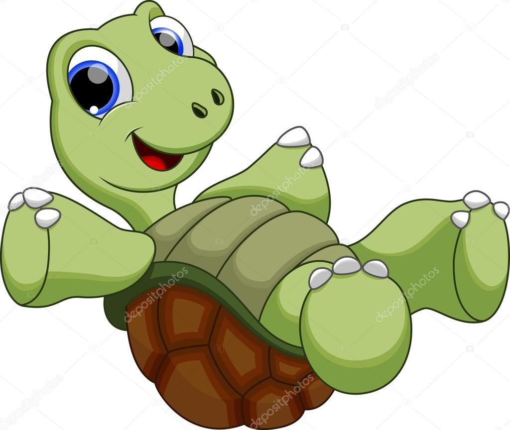 Cartone animato tartaruga — vettoriali stock irwanjos