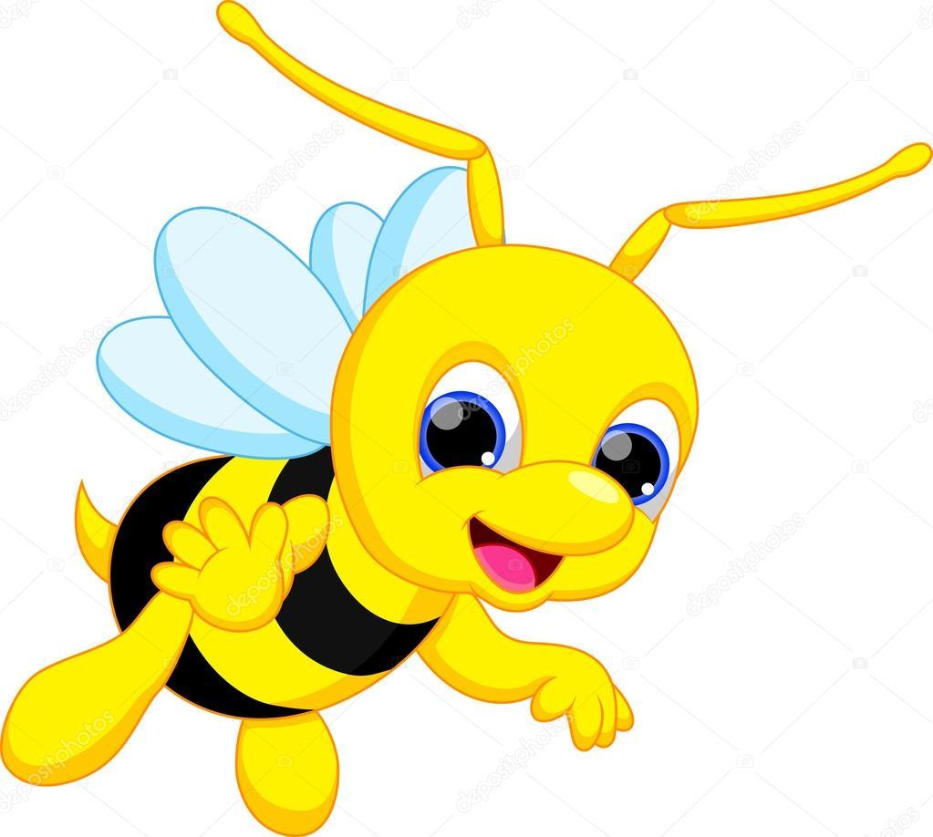 Cartone animato carino ape — vettoriali stock irwanjos