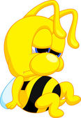 Cute bee cartoon — Stock Vector