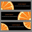 ������, ������: Set of banners with oranges