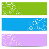 Set of color banners with white circles — Stock Vector