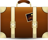 Brown Travel Suitecase. Vector Illustration — Stock Vector