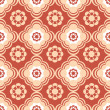 Coral and Beige Floral Seamless Pattern — Stock Vector #39081769
