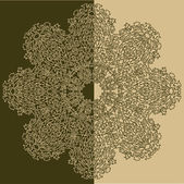 Beige and Green Ornament Pattern — Stockvektor