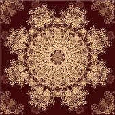 бежевый и красный ретро орнамент шаблон — Cтоковый вектор
