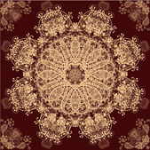 Beige and Red Retro Ornament Pattern — Vector de stock
