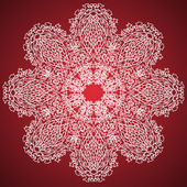 Pink and White Ornament Pattern — Stockvektor