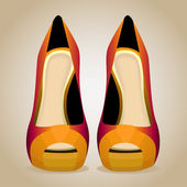 A High-Heeled Shoes. Isolated Vector Illustration — Vector de stock