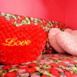 Heart-shaped Love pillows — Stock Photo #37915627
