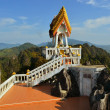 Buddhist mountainpeak temple in Thailand — Stock Photo #38424461