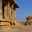 Ornate stone chariot in Hampi, India — Stock Photo