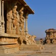 Stock Photo: Ornate stone chariot in Hampi, India