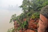 Buda más grande del mundo con horizonte de leshan — Foto de Stock