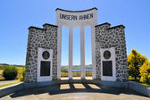 "Monument German immigrants Chile ""Unsern Ahnen"" — Stock Photo"