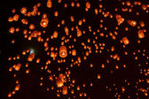 Buddhist sky lanterns firework festival of lights — Stock Photo