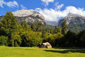 Camping in Cochamo national park, Patagonia — Stock Photo