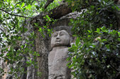 Carved Stone Buddha in Dowa Temple, Sri Lanka — Stock Photo